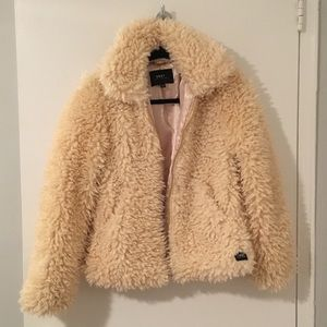 fd6bc7bc7 OBEY Cream Fuzzy Jacket